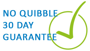 Our orders are backed up by our no quibble 30 day guarantee.
