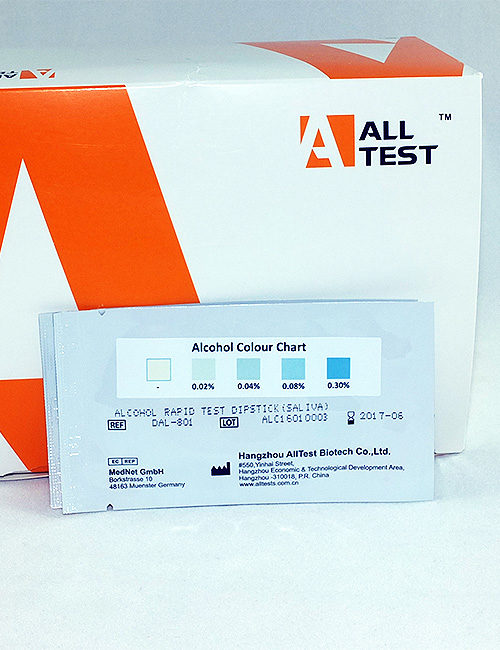 ALLTEST professional saliva alcohol test strips.