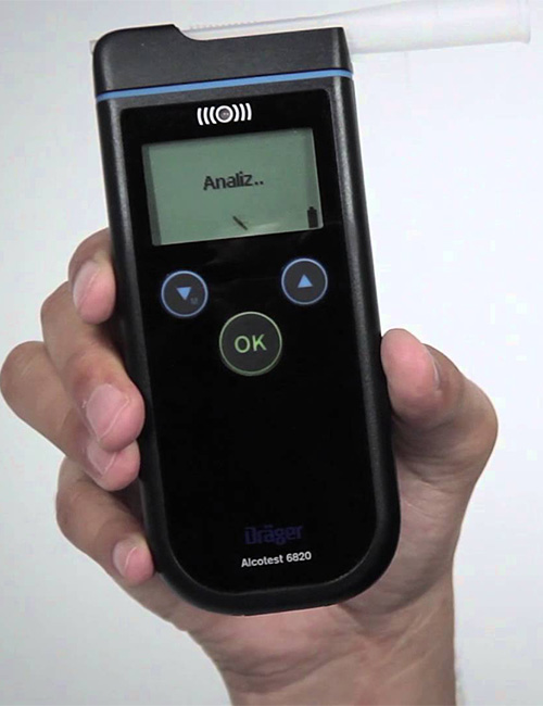 The Drager 6820 breath alcohol testing device.