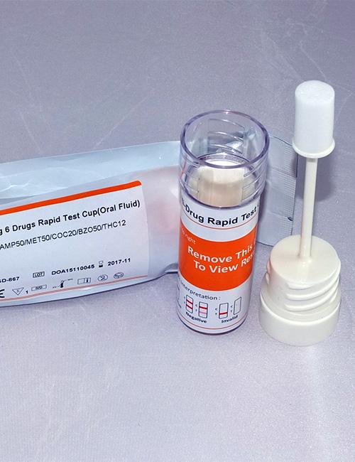 UKDT 6 in 1 + alcohol saliva drug test.
