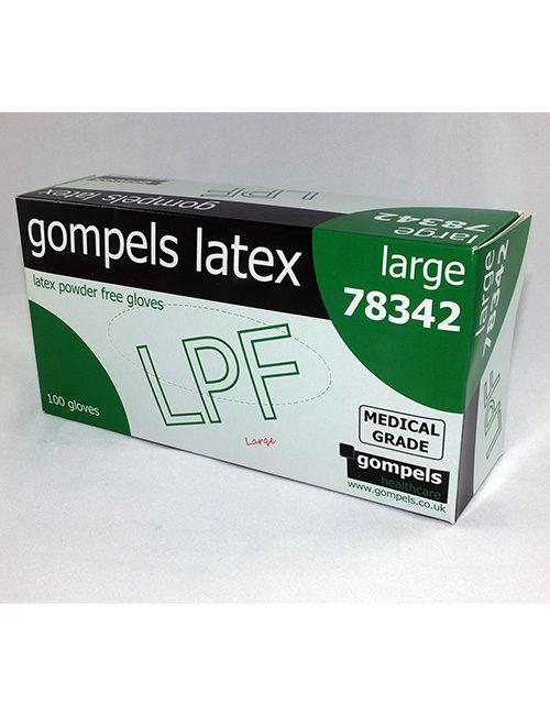 Latex powder free gloves.