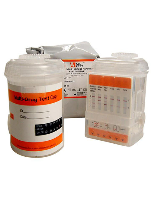 AllTEST drug testing kit. DOA 1107-B1 Optimal Integrated split key urine cup..